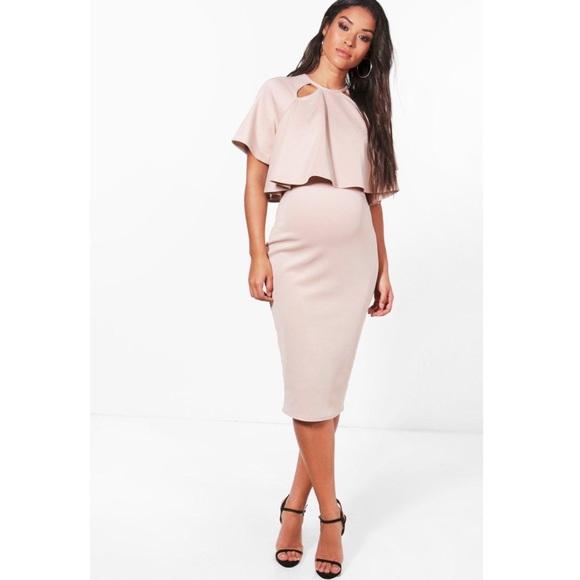 7aa5a54015057 Boohoo Dresses | Maternity Double Layer Wiggle Dress | Poshmark